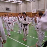 ASV-Taekwondoin auf Dan-Lehrgang